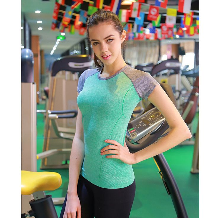 New Style Dry Quick Gym T shirt Compression tights Women's Sport T shirts Running Short Sleeve T-shirts Fitness Women Clothes