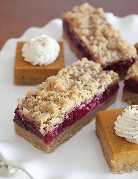 These Cranberry Crumb Bars combine the tart taste of cranberries with a crunchy oatmeal crust.