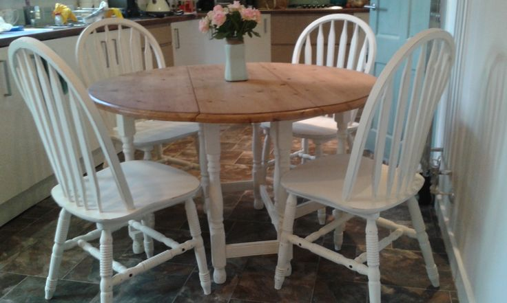 Dining set painted in french cream by everlong paint