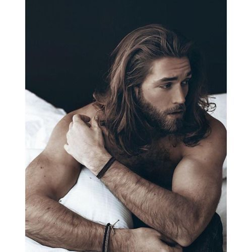 Image result for male model long hair russian