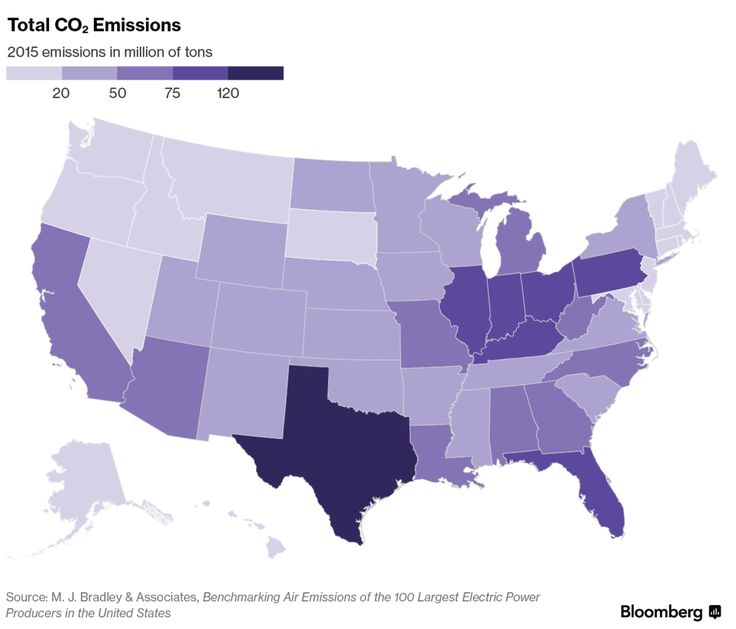 A recent report distributed by a diverse group including Ceres, Bank of America Corp., the Natural Resources Defense Council and electricity suppliers Entergy Corp. and Exelon Corp. offers a state-by-state breakdown of carbon-dioxide emissions from power plants. Here are the highlights: