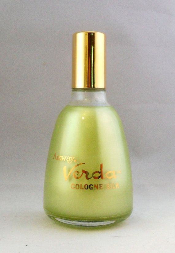 Vintage 1960s Verda By Amway 4 Oz Cologne Silk