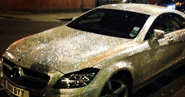 Not gonna lie, I would totally have a glitter car. Just would need to do the cheap version! lol