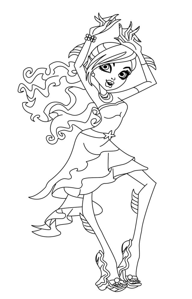 monster high coloring pages lagoona - photo#9