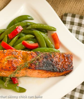 I just made this. SO GOOD!! We got a 1kg piece of wild sockeye salmon at Superstore. Followed the recipe, did't have thyme though & it was still delicious!!! Maple-Mustard Glazed Salmon…