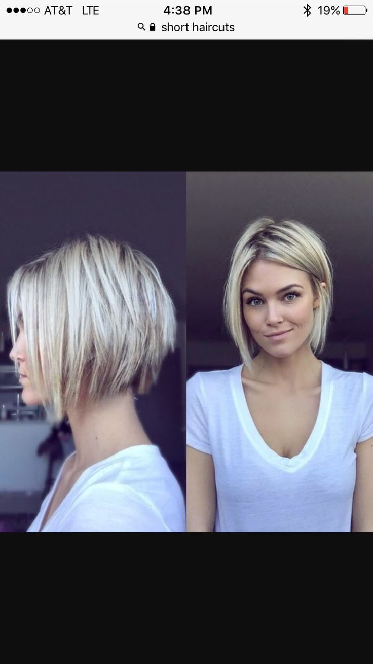 Uneven bob hairstyle