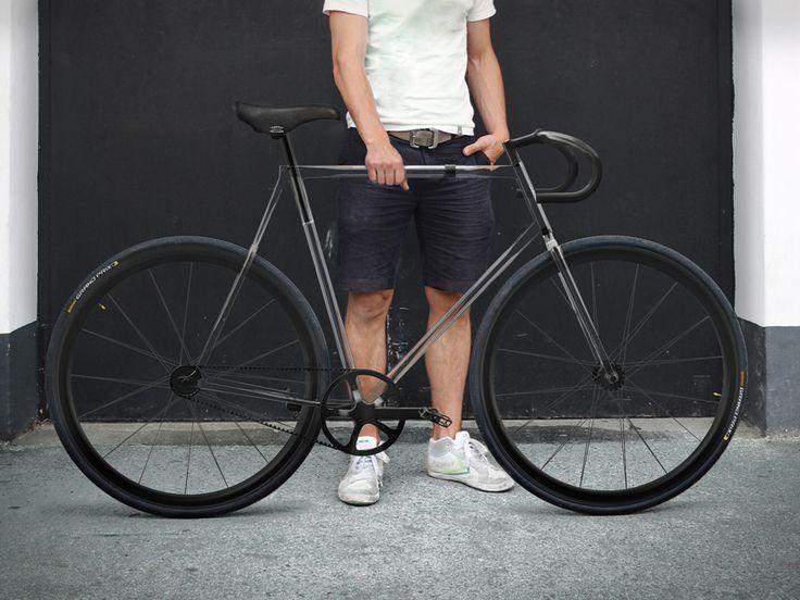 clarity bike by designaffairs studio has a fully transparent frame