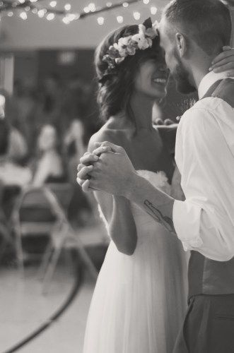 Beautiful wedding shot, candid bride and groom photograph first dance