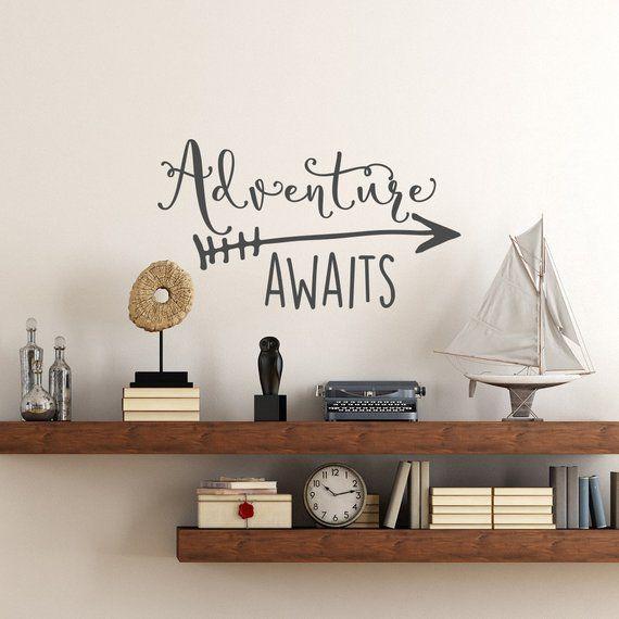 Adventure Awaits Vinyl Wall Decal – Adventure Decal Travel Theme Wall Decor – Wanderlust Wall Decal – Arrow Wall Decal Bedroom Nursery Decor – Products