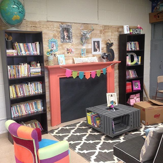 A little reading by the fire, anyone? Seriously one of the best ideas ever! @ramblingthoughtsfromgrade5 wins an award for creativity in my book. Talk about making your classroom feel like home!#homesweetclassroom #readingnook #read #classroomcreativity