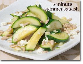 5-Minute Healthy Sautéed Summer Squash    This easy-to-prepare summer squash recipe is not only delicious but provides you with 33% of your Daily Value (DV) for vitamin C. Enjoy!