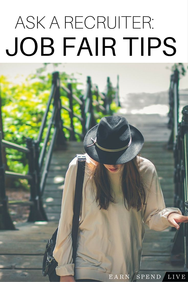 Job Fair tips from our expert career recruiter at earnspendlive.com