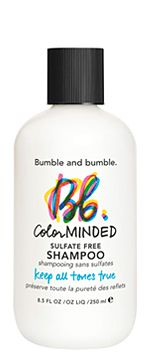 """The Bumble and Bumble """"gentle"""" shampoo, to help keep that vibrant color lasting longer in your hair."""