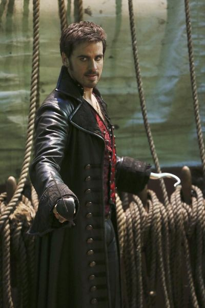 """The Jolly Roger -Colin O'Donnoghue as Captain Hook from the TV Show """"Once Upon A Time""""."""