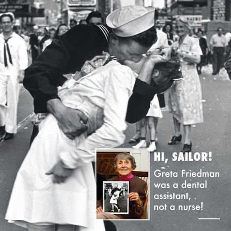 March is Women's History Month! One of the most famous photos ever was a dental assistant named Greta Friedman. Dentaltown Dental History http://www.dentaltown.com/MessageBoard/thread.aspx?s=2&f=2625&t=245227&v=1. Greta Friedman, who received this kiss at the end of World War II, was working at a New York dental office at the time!