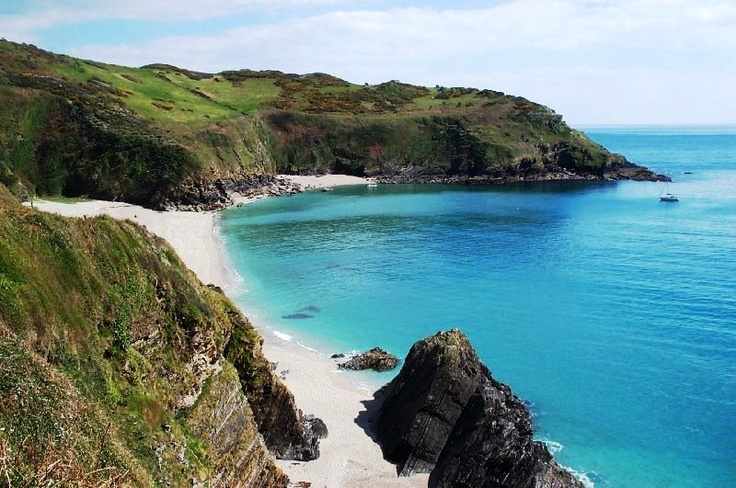 Lantic Bay - one of many secluded beaches near Polperro, Cornwall