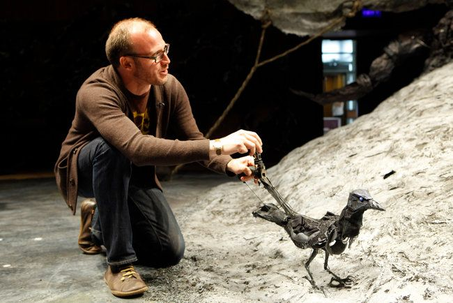 """Handspring Puppet Company/""""Crow"""" http://www.puppeteers.org/news/blog/tags/handspring-puppet-company-2/"""