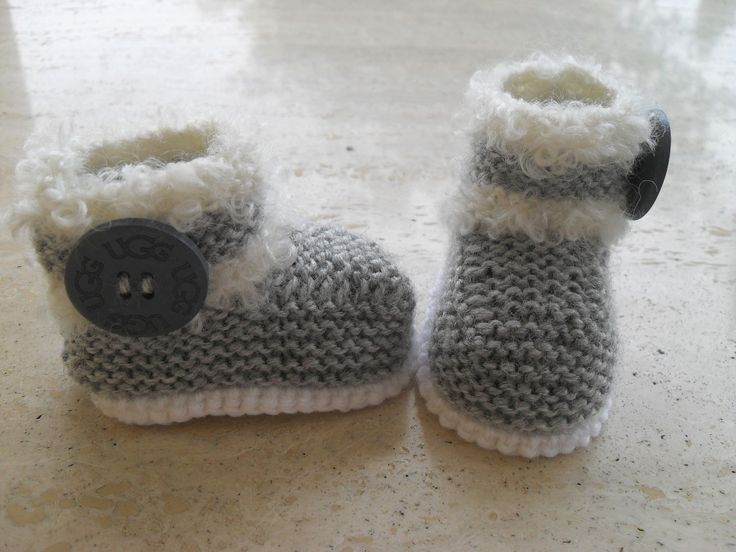 Ever So Cute Knitted Baby Boots Booties Three Sizes Available 12 Euros From My Etsy Shop.  Knitting Pattern Also For Sale