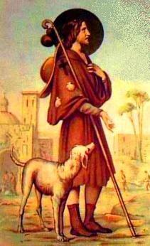 Roman Catholic Saints | Saint Roch  patron saint of dogs