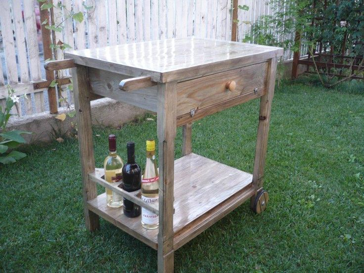 Image Of: Outdoor Serving Cart Wood