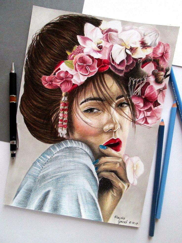 Prismacolor Premier colored pencils drawing by Klaudia Cymorek