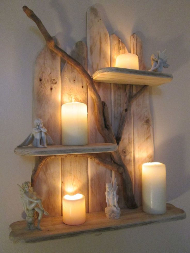 25 beste idee n over driftwood shelf op pinterest. Black Bedroom Furniture Sets. Home Design Ideas