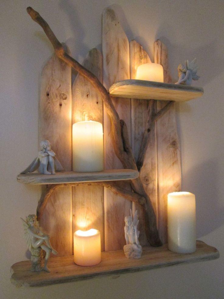 Charming Unique Driftwood Shelf Solid Rustic Shabby Chic Nautical Artwork | eBay