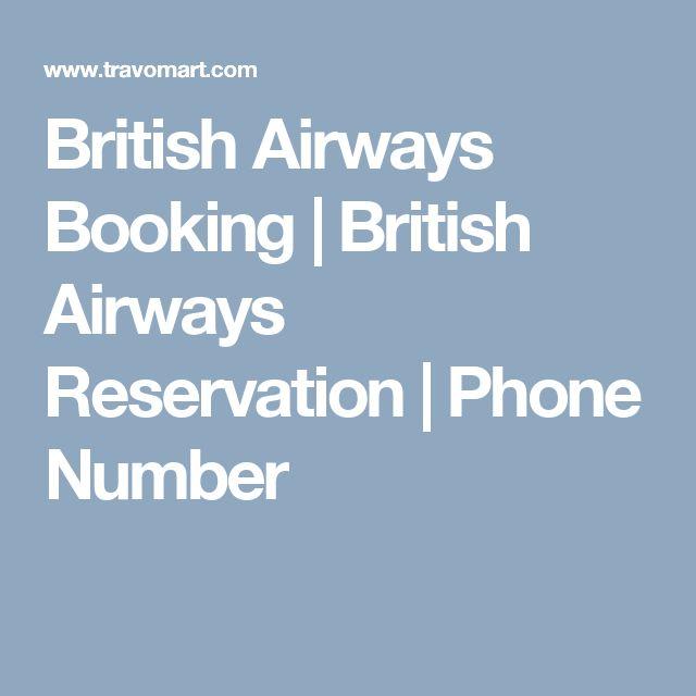 British Airways Booking    British Airways Reservation   Phone Number