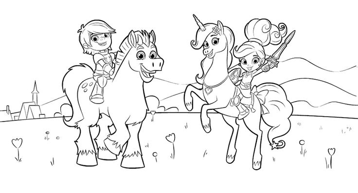 Nella The Princess Knight Coloring Sheet For Kids