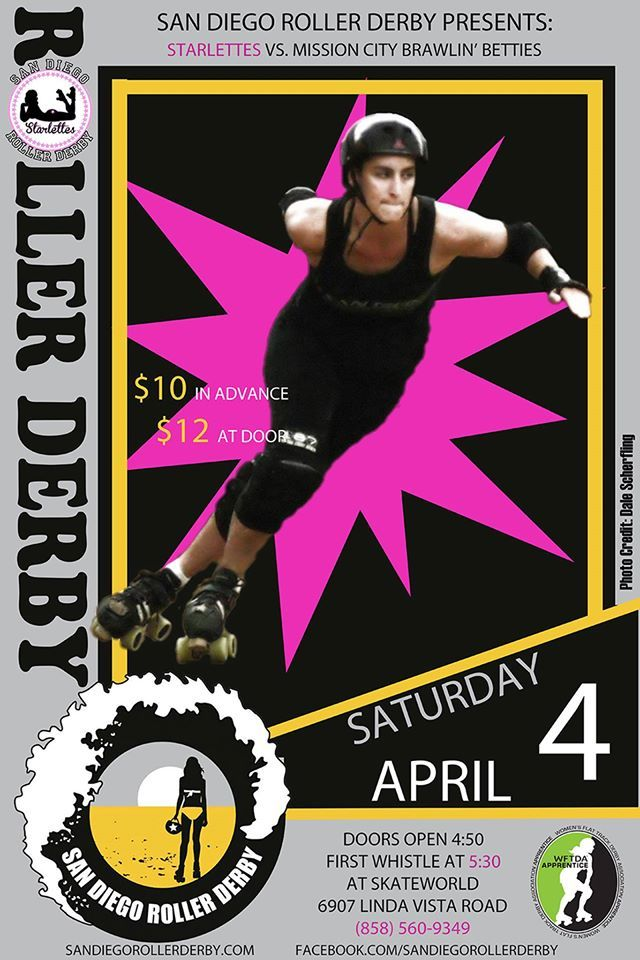 SDRD's very own Starlettes battle in their first WFTDA apprentice status game!! www.sandiegorollerderby.com
