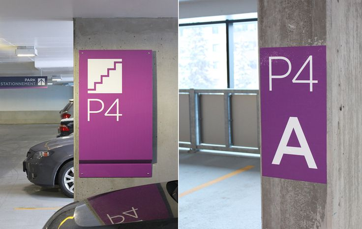 bayshore parking garage wayfinding signage wayfinding