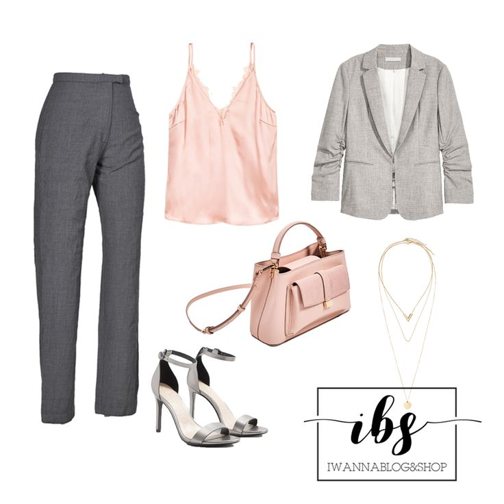 Rose Gold & Gray Outfit, Buissnes Outfit, Zara, H&M, Mango