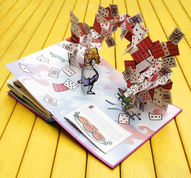 Alice's Adventures in Wonderland: A Pop-up Adaptation of the Lewis Carroll classic by pop-up book artist and paper engineer Robert Sabuda. / Via Brain Pickings