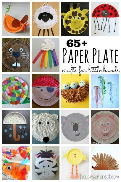 Over 65 Paper Plate Crafts for little hands