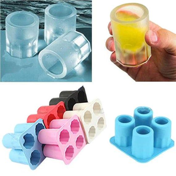 2PCS Silicone Ice Cube Tray Pop out Jelly Maker Chocolate Cake Mould Frozen Mold