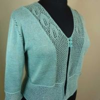 Lacy Leaves Jacket | Misses Sizes | Dynamic Pattern Format | Skill Level: Experienced | Designer: Ellen Kindsvater | Machine Knitting Pattern