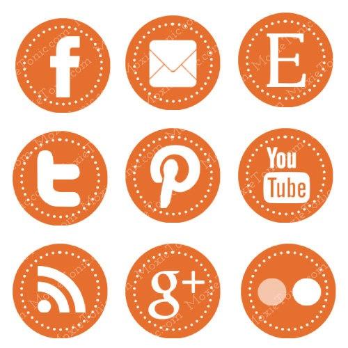 social icons- orange: Logo, Graphic, Web Design, Social Media Buttons, Social Media Icons, Socialmedia, Blog Buttons, Medium