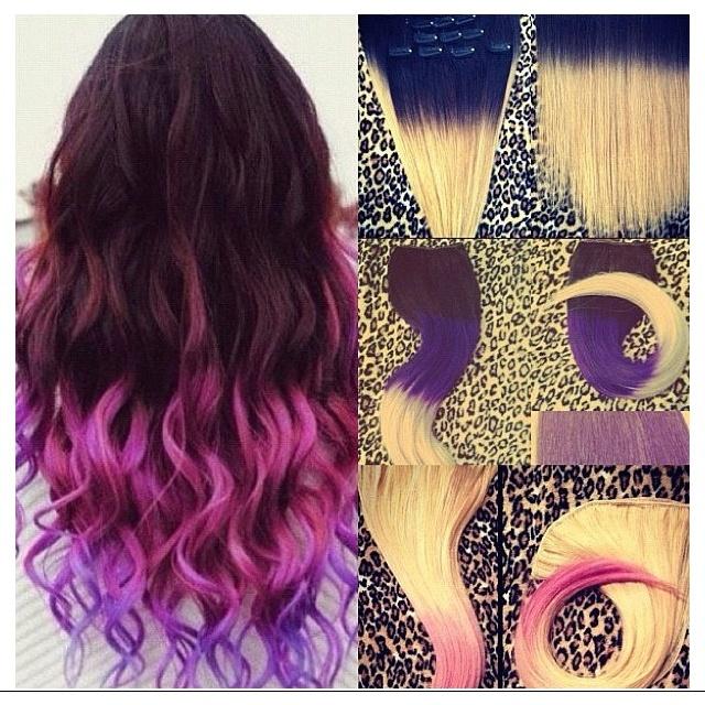 Color block hair
