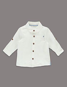 Long Sleeve Shirt with Linen