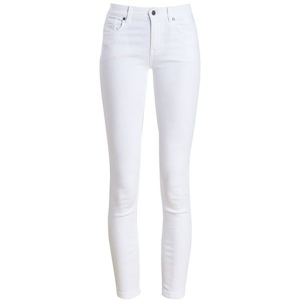 Women's Barbour Essential Cropped Trousers - White Out found on Polyvore featuring pants, capris, jeans, bottoms, calças, zip pants, white crop pants, cropped trousers, white slim pants and cowboy pants