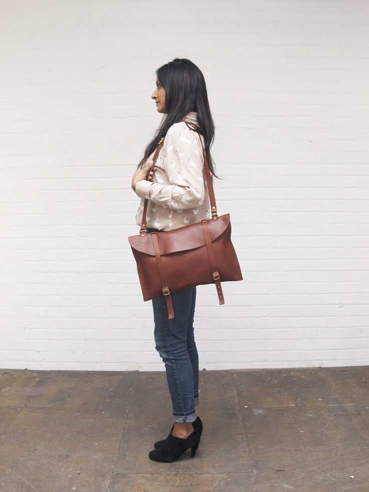 Leather Laptop Bag.