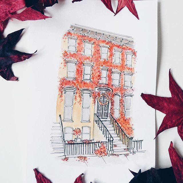 October Day 9 •  found this house on google street view in Brooklyn NY. . .