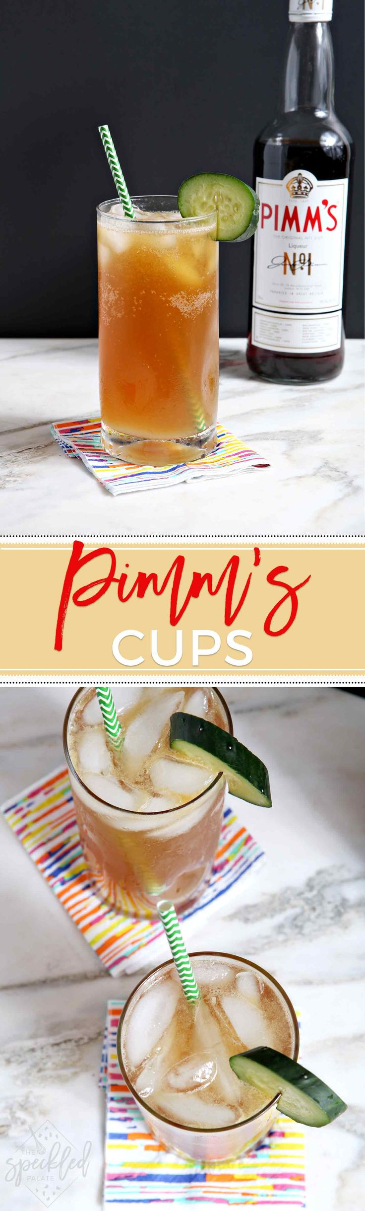 Tart and delicious, the Pimm's Cup is a classic New Orleans cocktail that is perfect for summertime sipping! #cocktail #recipe