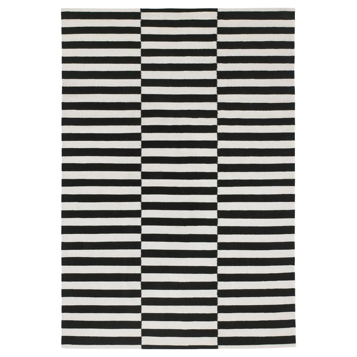 ikea stockholm black and white rug 5x7-they also have a black and white one called Rand