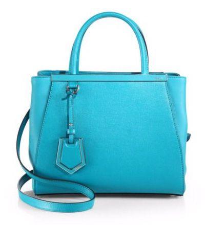 Fendi 2Jours Petite Shopper Lake Blue             $298.00