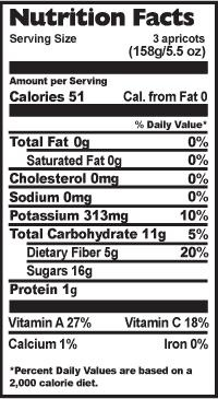 3 Apricots Nutrition Facts