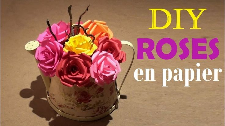 comment faire des roses en papier tuto facile diy paper rose youtube katehacks facebook. Black Bedroom Furniture Sets. Home Design Ideas