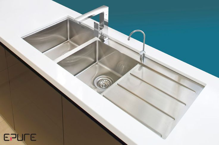 undermount sink with drainer - Google Search