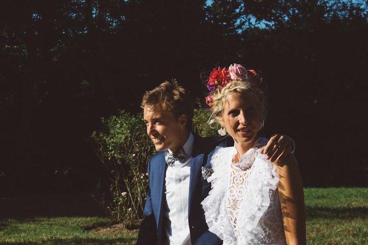 Jeanne is wearing 'in you light i learn how to love' dress in white battenberg lace #nevenka #bride #wedding