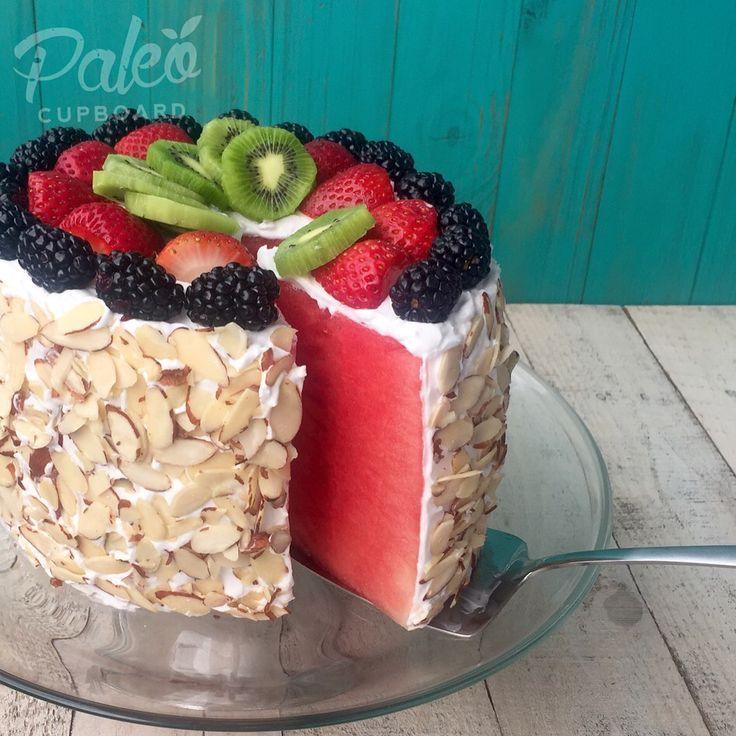The Original No-Bake Watermelon Cake! #Paleo